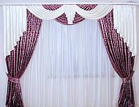 Ламбрекен со шторами  в гостиную Лика