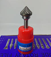 Борфреза коническая угол 90° (КX) 16х8х6 твердосплавная
