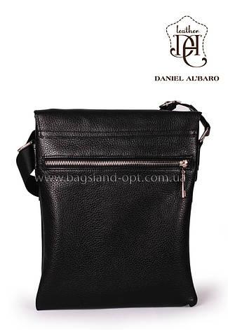 Кожаная мужская сумка Daniel Albaro 28*23, фото 2