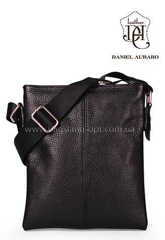 Мужская кожаная сумка Daniel Albaro 22*19 см, фото 2