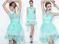 Нарядное летнее мини-платье