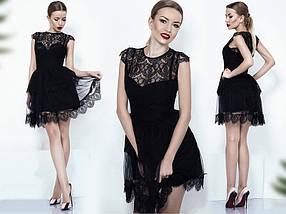Нарядное летнее мини-платье, фото 2