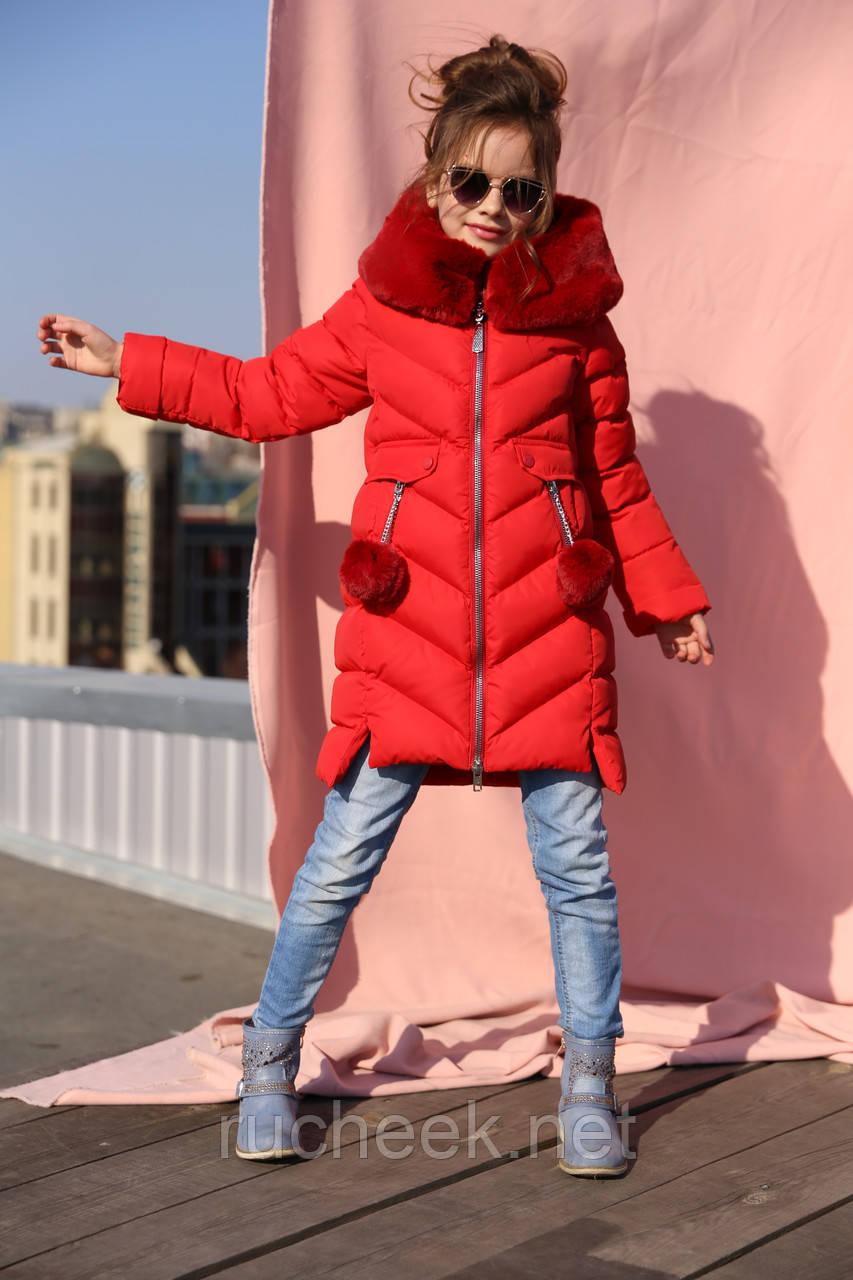 Ясмин - зимнее пальто для девочки Новая коллекция зима Nui very, р 116 - 158