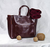 Сумка натуральная кожа KT22223  кожаные сумки в коричневом цвете