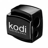 Точилка для косметических карандашей (черная глянцевая, с двумя лезвиями) Kodi