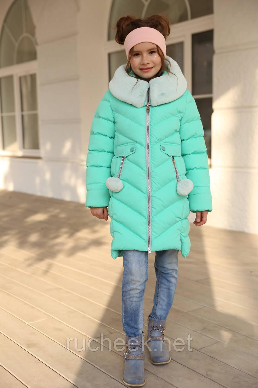 Ясмин - зимнее пальто для девочки Новая коллекция зима 2018/2019 Nui v