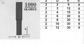 Фреза 1000 d12 D10