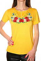 Вышитая женская футболка лето
