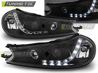 Передні фари Ford Mondeo 2 тюнінг оптика (чорні)