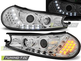 Передні фари Ford Mondeo 2 тюнінг Led оптика хром