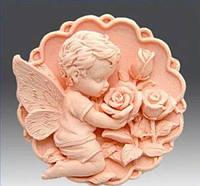 Форма силиконовая Ангел с розами 3D Люкс