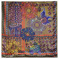 10386-10, павлопосадский платок (атлас) шелковый с подрубкой