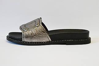 Шлепанцы серебристые Evromoda 03219, фото 2