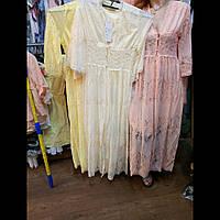 Платье молодежное кружевное летнее  длинное