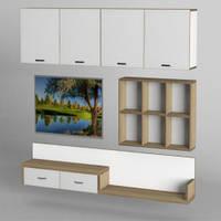 Стінка для вітальні з ДСП/МДФ (гостиная стенка) - 219 Тіса меблі