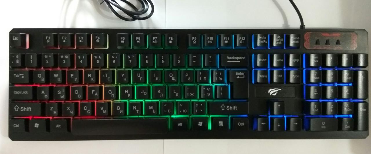 Клавиатура с цветной подсветкой Havit HV-KB421L, USB