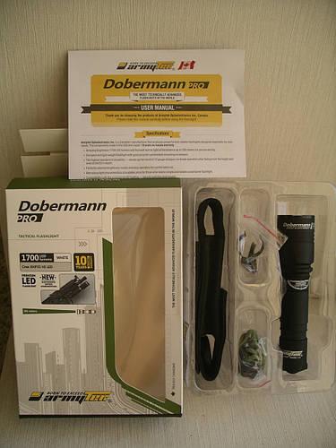Фонарь Armytek Dobermann Pro XHP35 HI (белый свет)