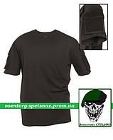 """Тактическая футболка """"Карго"""" с коротким рукавом черная (black)"""
