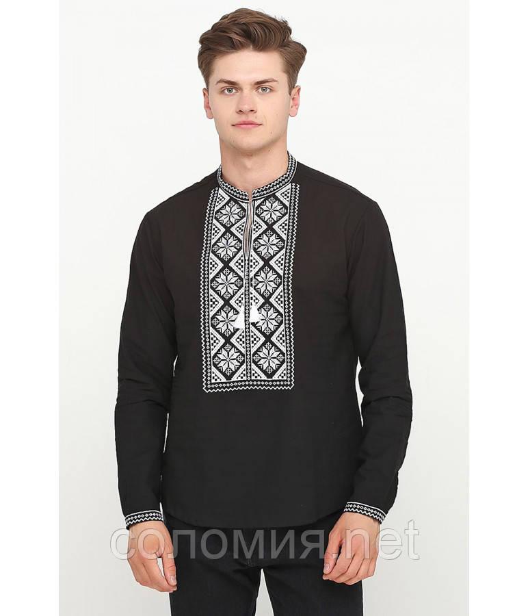Літня Чорна Чоловіча Вишиванка 46-56р  продажа 1129343e305bf