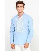 Блакитна Літня Чоловіча Вишита сорочка 46-56р 891a0150f35d3