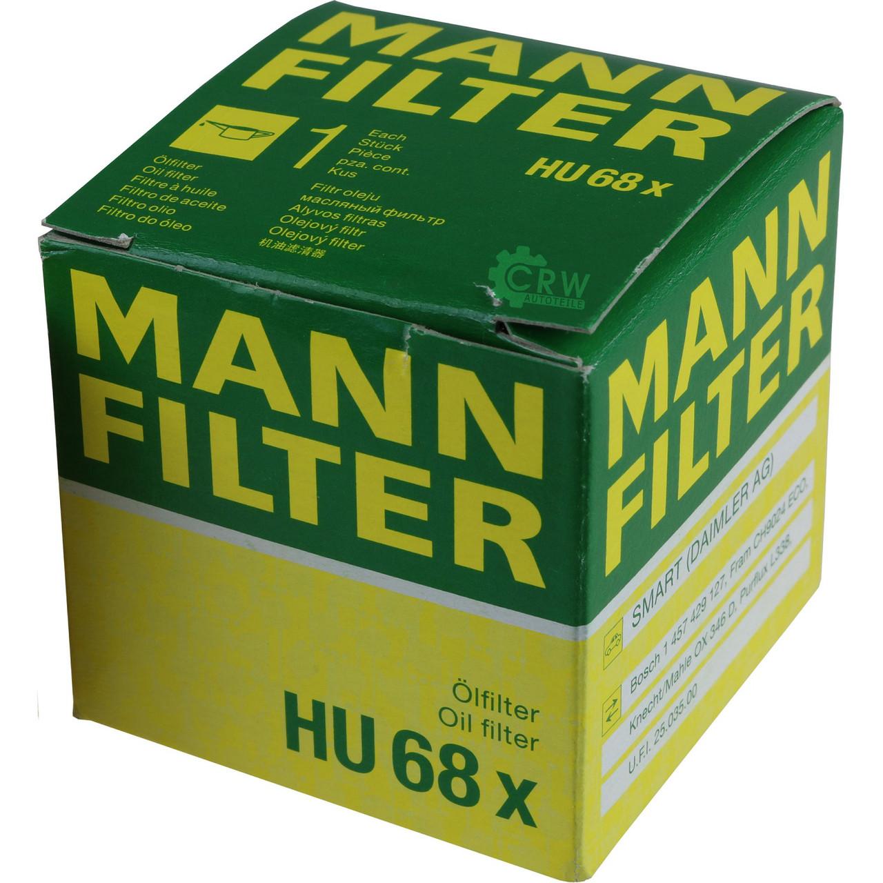 Масляный фильтр HU68x для Smart Cabrio, City-Coupe, Fortwo, Roadster