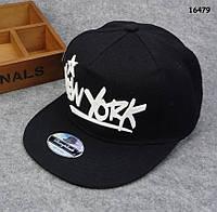 Кепка New York с прямым козырьком. 53-56 см, фото 1