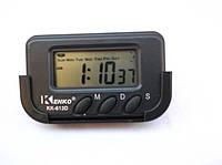 Часы автомобильные kenko kk-613d, будильник, таймер, секундомер, день недели, питание аа, подставка на скотче