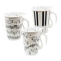 Чашка с крышкой 250 мл Сольфеджио ( кружка для чая )