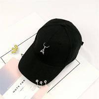 Женская кепка с Эйфелевой башней черная, фото 1