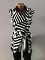 Блуза в полоску с воротником