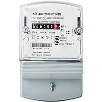Счетчик электроэнергии однофазный однотарифный NIK 2102-02 М2В (5-60А)