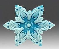 Форма силиконовая Снежинка №1 3D Люкс