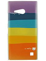 Чехол с рисунком для Nokia Lumia 730 Радуга