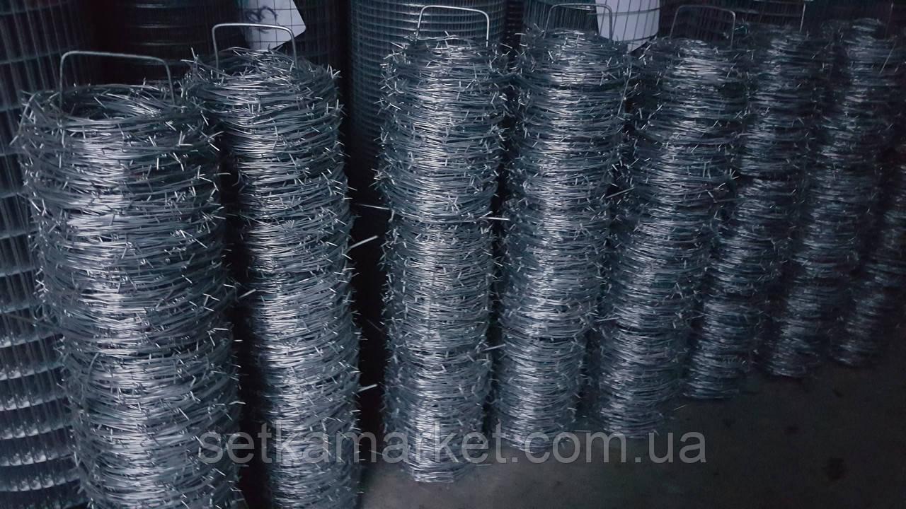 Колючий дріт цинк, діаметр 2 мм, довжина 150 м.