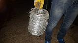 Колючий дріт цинк, діаметр 2 мм, довжина 150 м., фото 2