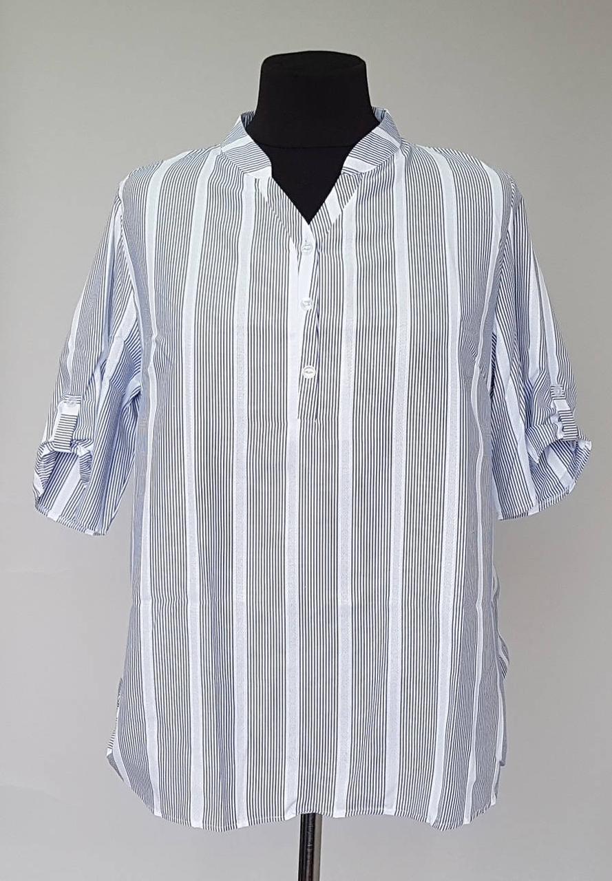 1391ef0d56e Женская блузка рубашка Полоска большого размера  продажа