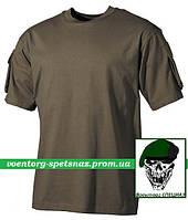 "Тактическая футболка ""Карго-2"" с коротким рукавом олива (olive)"