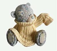 Форма силиконовая Тедди в свитере 3D Люкс