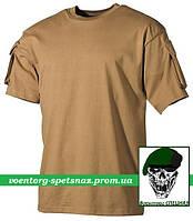 """Тактическая футболка """"Карго-2"""" с коротким рукавом койот (coyote)"""