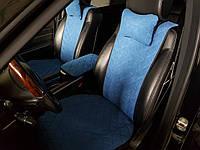Накидки на сидіння сині. Передній комплект. ШИРОКІ. Авточохли