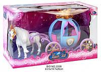 Игрушка для девочки Экипаж (карета с лошадью)