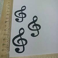 Термо клеевая аппликация скрипичный ключ