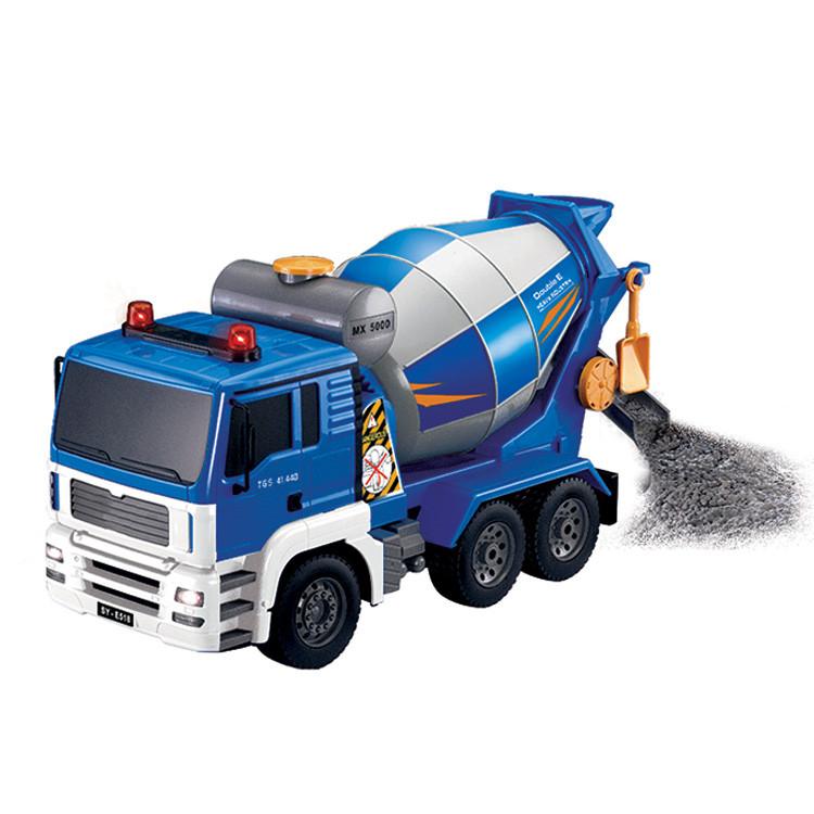 Радиоуправляемая игрушка SUNROZ Mixer Truck бетономешалка на р/у Голубой (SUN1032)