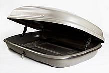 Багажный бокс на крышу авто Десна-Авто 320л серый, 1-стороннее открывание