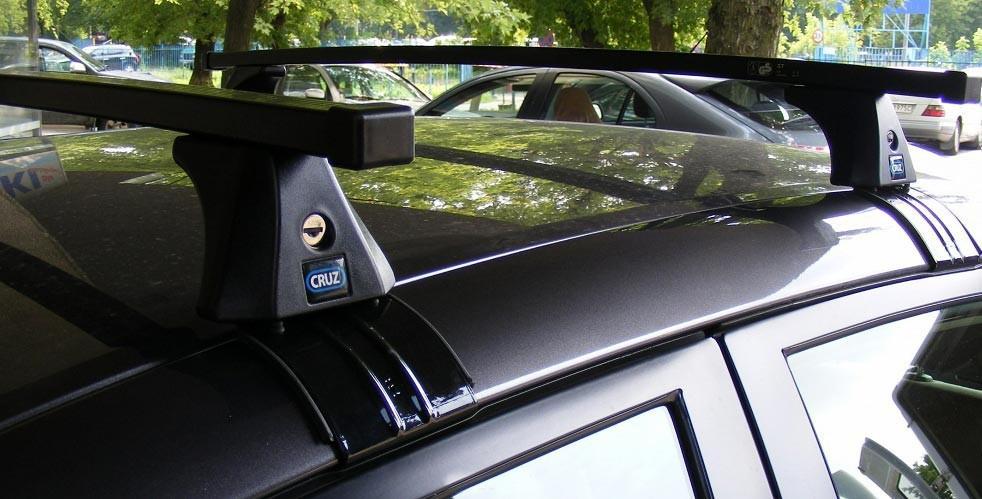 Багажник Cruz на Ford Fiesta 5 дверей 2008-2013, квадратный, сталь