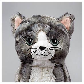 ЛІЛЛЕПЛУТТ Мягкая игрушка, кот серый/белый, 00260451, ИКЕА, IKEA, LILLEPLUTT, фото 2