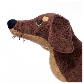 СМОСЛУГ Мягкая игрушка, собака такса, коричневый, 20260445, ИКЕА, IKEA, SMÅSLUG, фото 2