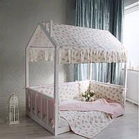 Домик кроватка с текстилем