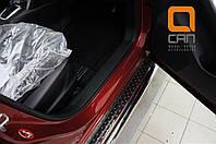 Пороги нержавеющая труба с листом C2 d60mm Mazda CX5 (2012-2015 /2015-)