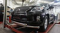 Защита переднего бампера Lexus LX570 (2014-2015) (двойная) d 76/76